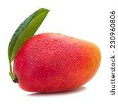 Fresh Mango Fruit With Green...