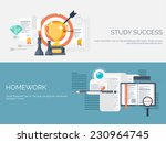 vector illustration. flat study ... | Shutterstock .eps vector #230964745