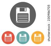 floppy disk icon | Shutterstock .eps vector #230986705