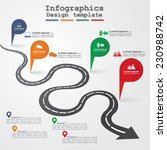 road infographic timeline... | Shutterstock .eps vector #230988742