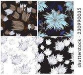 vector seamless floral  | Shutterstock .eps vector #230990035
