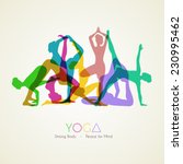 Vector Illustration Of Yoga...