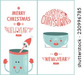 christmas greeting card and new ... | Shutterstock . vector #230996785