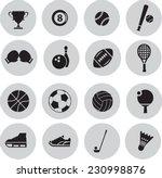 sport icon set   Shutterstock .eps vector #230998876