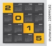 simple editable vector calendar ... | Shutterstock .eps vector #230999182