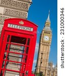 Red Call Box In London With Bi...