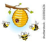 bees and a beehive | Shutterstock . vector #231002626