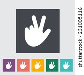 hand sign. single flat icon on... | Shutterstock . vector #231005116