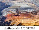 open mining pit with heavy... | Shutterstock . vector #231005986