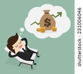 business man dreaming about... | Shutterstock .eps vector #231006046
