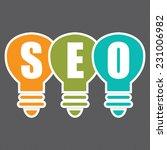 search engine optimization  seo ... | Shutterstock . vector #231006982