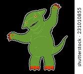 green monster on black...   Shutterstock .eps vector #231010855