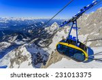 winter mountains  cable car ... | Shutterstock . vector #231013375