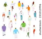 many people walking  talking... | Shutterstock .eps vector #231013996
