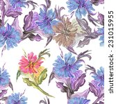 flower seamless pattern | Shutterstock . vector #231015955