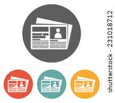 newspaper icon | Shutterstock .eps vector #231018712