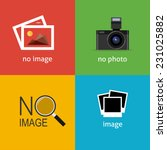 no image signs for web page.... | Shutterstock .eps vector #231025882