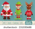 christmas characters  santa... | Shutterstock .eps vector #231030688
