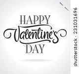 happy valentine's day original... | Shutterstock .eps vector #231031696