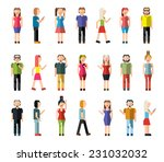 people male and female pixel... | Shutterstock .eps vector #231032032