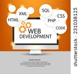 web development concept | Shutterstock .eps vector #231038125