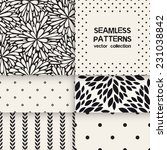 vector set of six seamless... | Shutterstock .eps vector #231038842