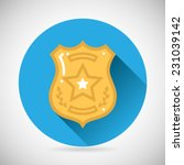 police officer bage icon... | Shutterstock .eps vector #231039142