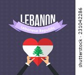 lebanese republic national...   Shutterstock .eps vector #231042286