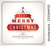 christmas tree retro... | Shutterstock .eps vector #231044935