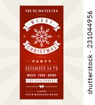 christmas party invitation... | Shutterstock .eps vector #231044956
