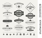 retro vintage insignias or... | Shutterstock .eps vector #231050128
