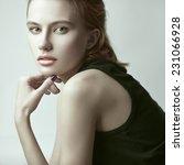 fashion beauty portrait of... | Shutterstock . vector #231066928