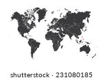 a map of the world with a... | Shutterstock . vector #231080185