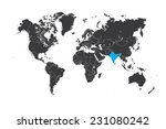 a map of the world with a... | Shutterstock . vector #231080242