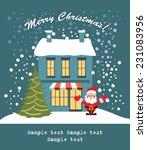 merry christmas card | Shutterstock .eps vector #231083956