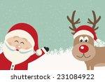 Santa Wave From Side Reindeer...