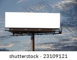 a blank billboard for you to... | Shutterstock . vector #23109121