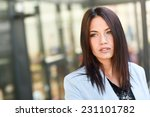 portrait of businesswoman in... | Shutterstock . vector #231101782