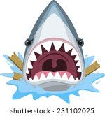 Shark Attack With Open Jaws...