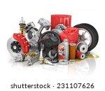 set of parts of car.  | Shutterstock . vector #231107626