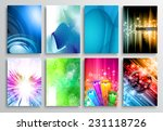 set of abstract modern...