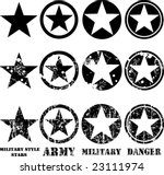 vectors military stars | Shutterstock .eps vector #23111974