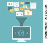 vector digital marketing... | Shutterstock .eps vector #231129385