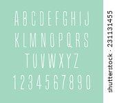 hand drawn thin alphabet   Shutterstock .eps vector #231131455