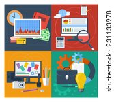 concept set for financial... | Shutterstock .eps vector #231133978