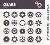 Gears And Cogs. Icons Set In...