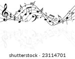 music notes background | Shutterstock .eps vector #23114701