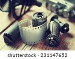 old photo film rolls  cassette... | Shutterstock . vector #231147652