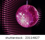 vector background with disco...