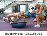 view of a female trainer... | Shutterstock . vector #231155068